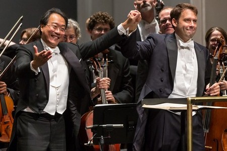 Yo-Yo Ma with the Winston-Salem Symphony, 2014.