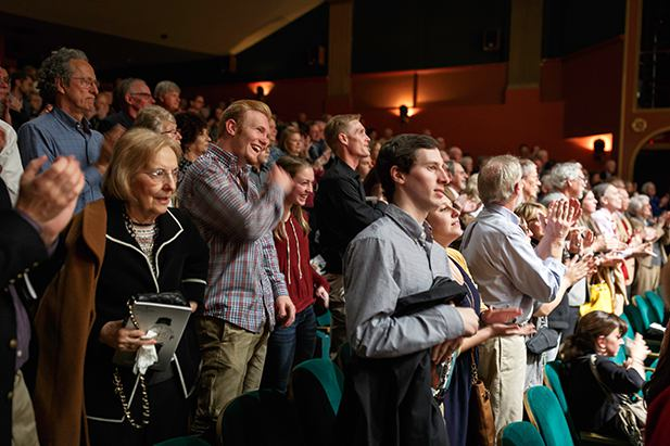 The Audience applauds for Brahms on March 6, 2016