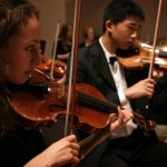WSS Youth Symphony violinists